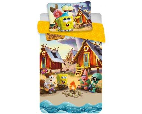 SpongeBob Ledikant dekbedovertrek kampvuur 100x135 cm