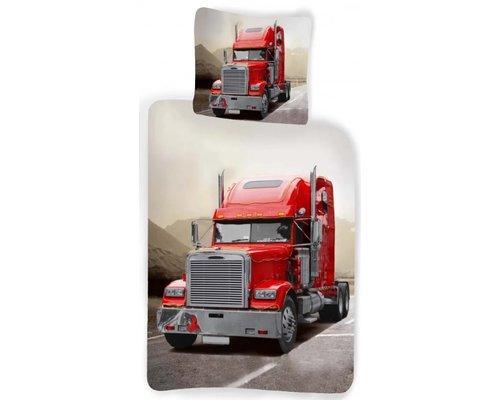 Sweet home Ledikant dekbedovertrek Rode vrachtwagen 100x140cm