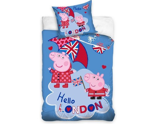 Peppa Pig Dekbedovertrek Hello London 140x200cm