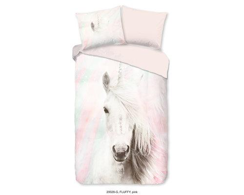 Good Morning Dekbedovertrek Unicorn roze 140x220 cm
