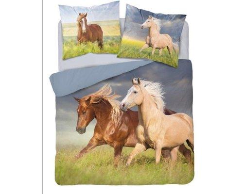 Holland Dekbedovertrek Paarden 220x200 cm