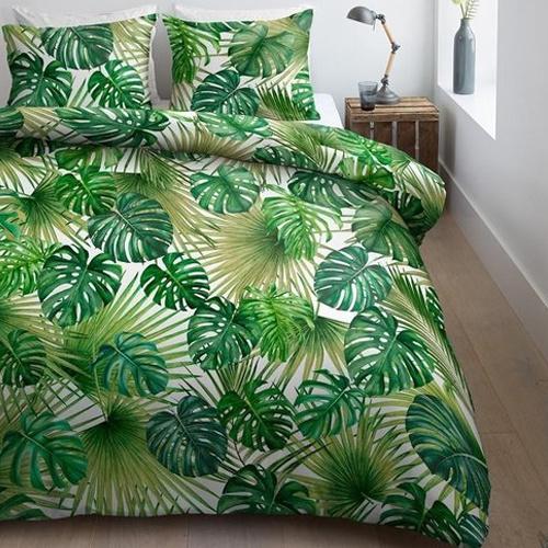 rustige slaapkamer dekbedovertrek Palmate Ambiante