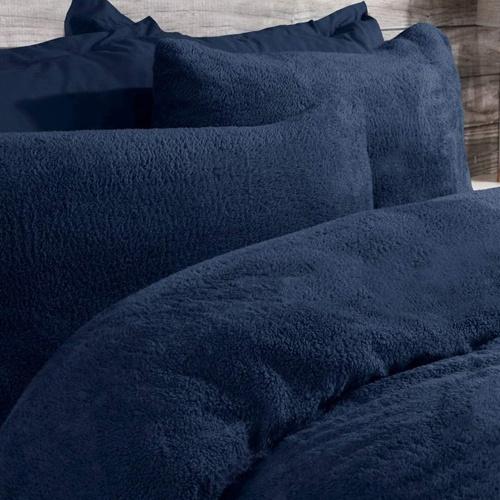 rustige slaapkamer dekbedovertrek teddy Navy Blue