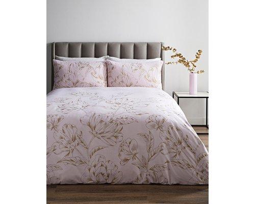 Sleepdown Dekbedovertrek Metallic flower blush