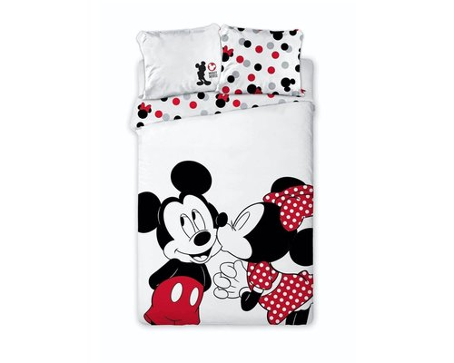 Disney Dekbedovertrek Mickey & Minnie in love