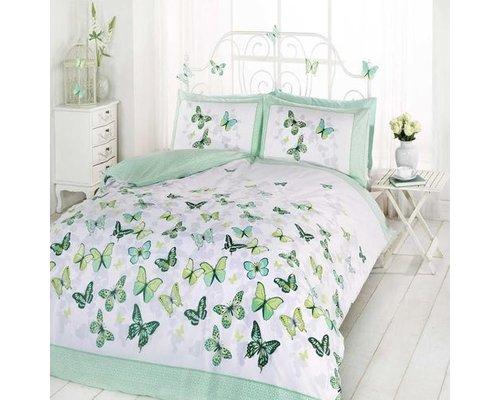 Made With Love Dekbedovertrek Vlinders groen