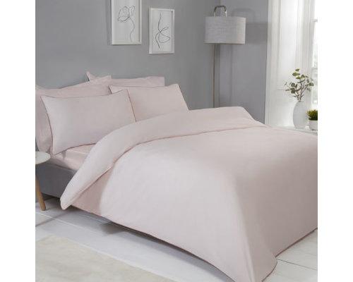 Sleepdown Dekbedovertrek Contrast piping blush roze