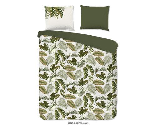 Good Morning Dekbedovertrek Green leaf