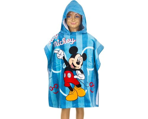 Mickey Mouse Badponcho met capuchon