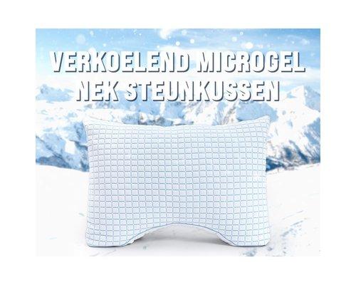 Dreamhouse Verkoelend 3D blue cell microgel neksteun hoofdkussen
