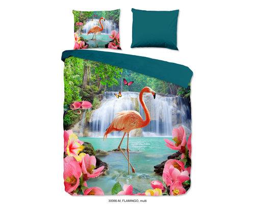 Pure Dekbedovertrek Flamingo paradijs