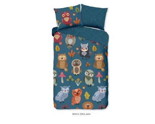 Good Morning Dekbedovertrek Owls 100x135 cm