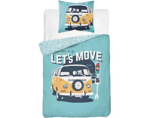 Sweet home Dekbedovertrek VW camper glow in the dark