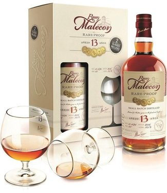 Malecon Rum 13 Years Old in Giftpack with 2 Glasses - 70 cl