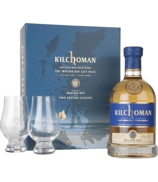 Kilchoman Machir Bay Gift package with 2 Glasses - 70 cl