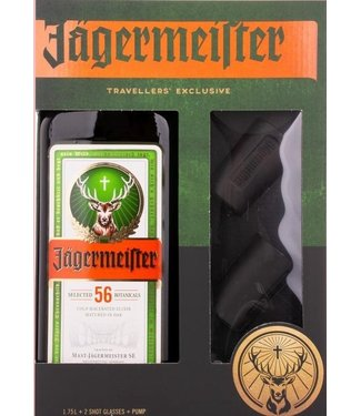 Jagermeister with 2 Shot Glasses and a Pump - 175 CL