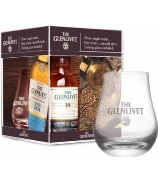 Glenlivet Mini Pack with Glass - 3 x 5 cl