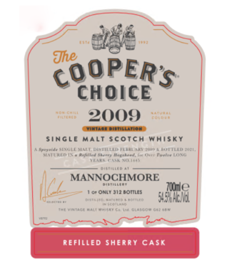 Mannochmore 12 Years Old 2009 Cooper's Choice