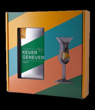 Kever Kever Jenever In Blik Giftpack Met Glas 0,50 ltr 38,7%