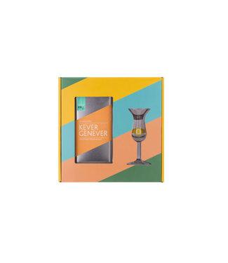 Kever Kever Jenever Kopstoot In Giftpack Met Glas 0,50 ltr 37%