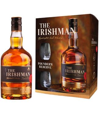 The Irishman The Irishman Founders Reserve Giftpack Met Glazen 0,70 ltr 40%