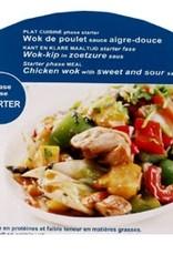 Wok van kip met zoetzure saus