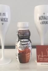 Chocolade Smoothie flesje