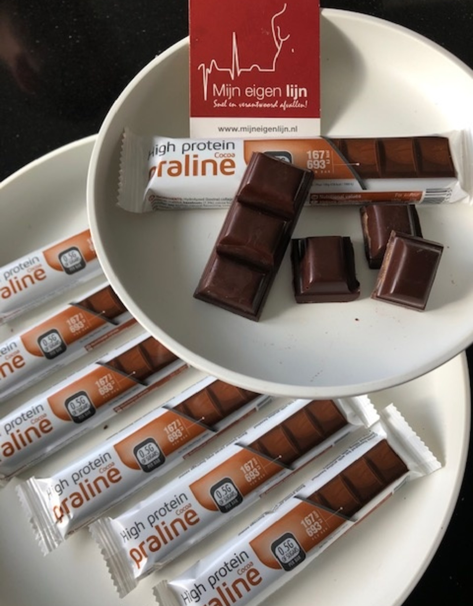 Chocolade Praline Hazelnoot repen LOW CARB