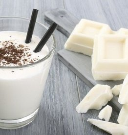 Witte chocolade drank