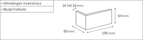 Witte hoek steenstrips Loft