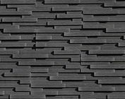Steenstrips Grijs - Zwart