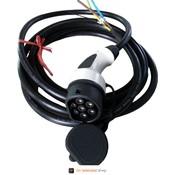 Dostar Anschlusskabel mit Typ 2 Stecker (w), 32A, 3 Phasen - Wunschlänge