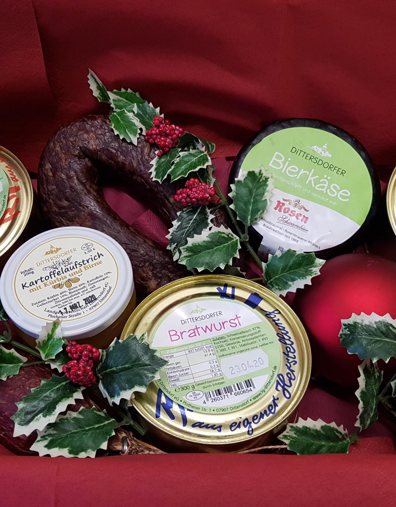 Dittersdorfer Weihnachtspaket mit Wurstprodukten zum verschenken