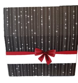 Dittersdorfer Weihnachtsverpackung schwarz mit Schleife