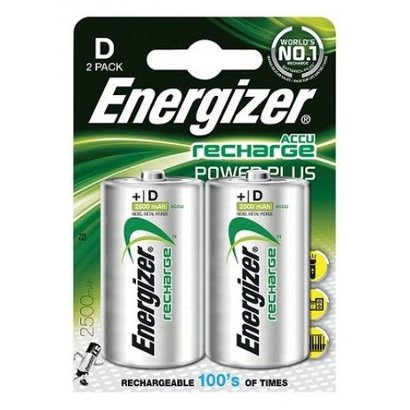 Energizer D cell oplaadbare batterijen 2500 mAh