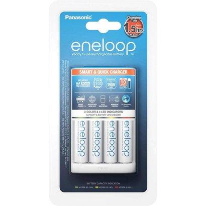 Eneloop batterijlader 1,5 uurs incl. 4x 2000 mAh batterijen NiMH