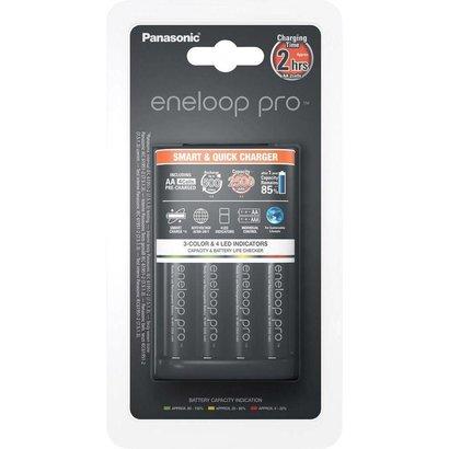 Eneloop batterijlader pro 2 uurs incl. 4x 2550 mAh batterijen NiMH