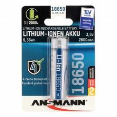 Ansmann 18650 Li-ion oplaadbare batterij 3,6V 2600 mAh protected