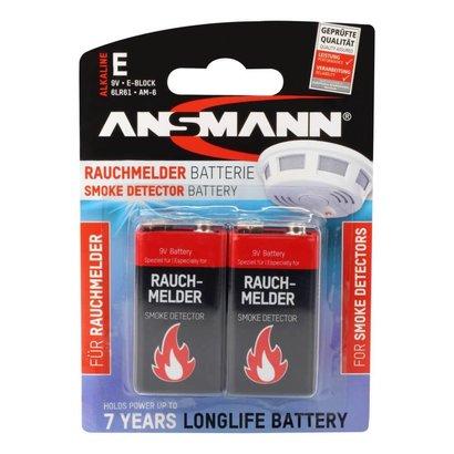 Ansmann 9 volt blok batterij blister 2 stuks