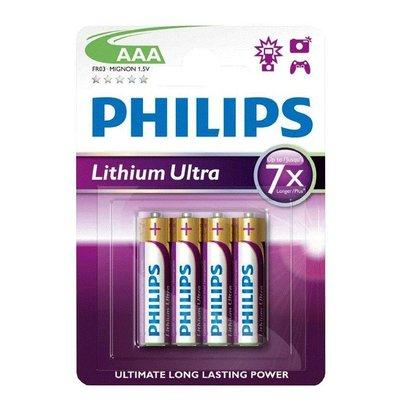 Philips AAA Lithium batterijen