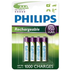 Philips AAA oplaadbare batterijen 950 mAh