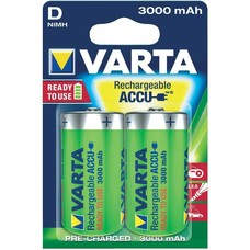 Varta oplaadbare D batterijen 3000 mAh