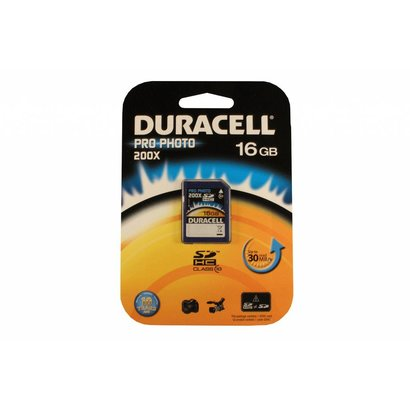 Duracell SDHC kaart pro-photo 16GB class 10
