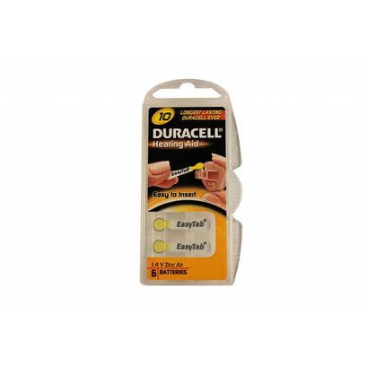 Duracell hoortoestel batterijen type 10 | geel | PR70