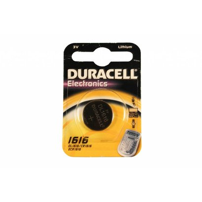 Duracell CR1616 3V lithium knoopcel batterij