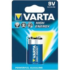 Varta 9V batterij high energy blister 1 stuk