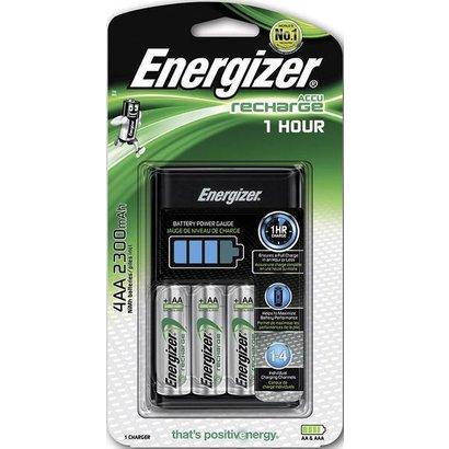 Energizer 1 uurs snellader incl. 4 x AA oplaadbare batterijen