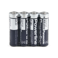 Panasonic industrial powerline AA LR6 batterijen folie 4 stuks