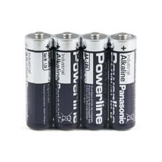 Panasonic industrial powerline AA LR6 batterijen folie 4 stuks