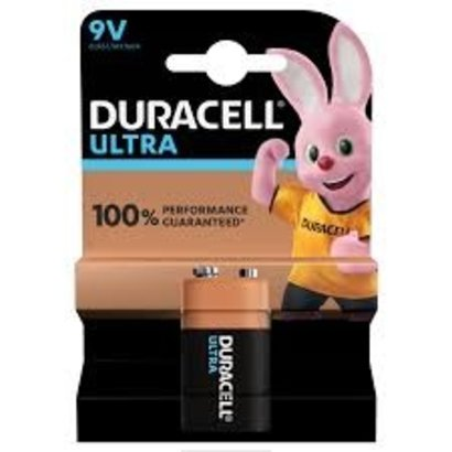 Duracell ultra power alkaline 9V batterij